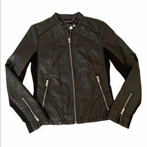 🏍 Express Moto Jacket Faux Vegan Leather Zippers